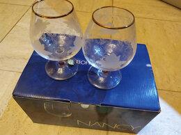 Бокалы и стаканы - 6 новых бокалов, Чехословакия, богемское стекло, 0