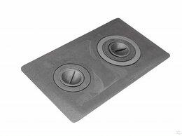 Камины и печи - Варочная чугунная плита 710x410, с конфорками, 0