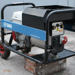 Электрогенераторы - Сварочный генератор sdmo 7кВт в отличном состоянии, 0