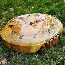 Часы настенные - Часы из натурального дерева, 0