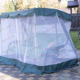 Садовые качели - Тент + москитная сетка для садовых качелей с прямой крышей, 0