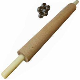 Скалки - Скалка деревянная с вращающимися ручками 40-7,7см, 0