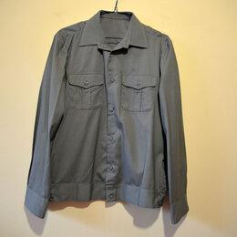 Военные вещи - Рубашка форменная защитного цвета мужская новая, 0