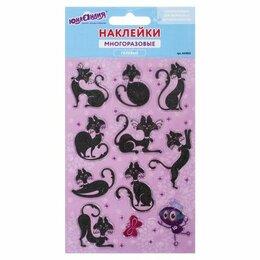 Интерьерные наклейки - Наклейки гелевые «Кошки», многоразовые, с…, 0