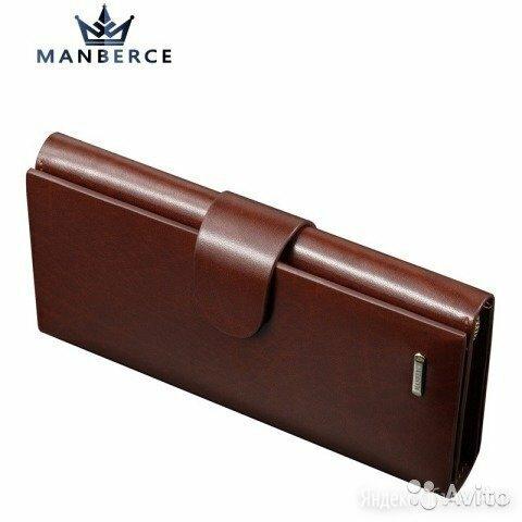 Мужское портмоне из натуральной кожи, кошелек по цене 3500₽ - Кошельки, фото 0