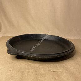 Сковороды и сотейники - Крышка-сковородка чугунная под казан 10 л, 0