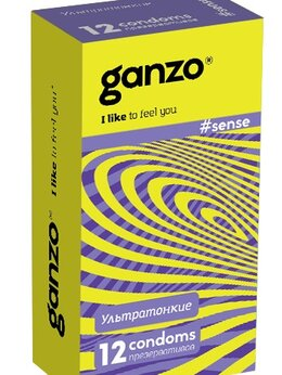 Презервативы - ПРЕЗЕРВАТИВЫ GANZO SENSE №12 (ультратонкие), 0