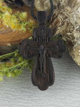 Кулоны и подвески - Крест нательный резной, 0