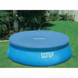 Тенты и подстилки - Тент для надувного бассейна 457 см, круглый, Intex, 0