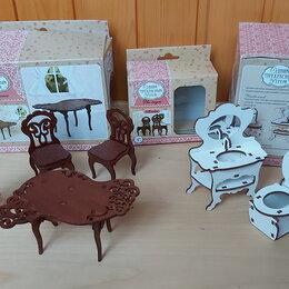 Игрушечная мебель и бытовая техника - Мебель для кукол деревянная новая, 0