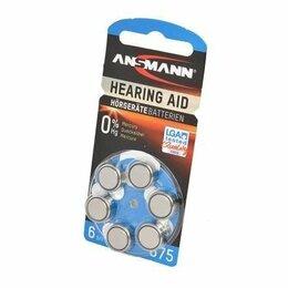 Батарейки - Элемент питания Ansmann Zinc Air (UK) для слуховых аппаратов (КОД:497227), 0