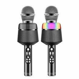 Микрофоны - Караоке микрофон Q008 черный, 0