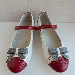Балетки, туфли - Кожаные туфли на девочку размер 32, 0