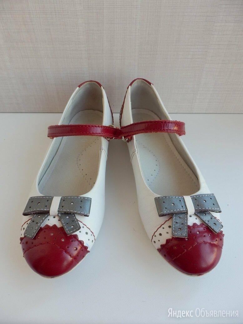 Кожаные туфли на девочку размер 32 по цене 1200₽ - Балетки, туфли, фото 0