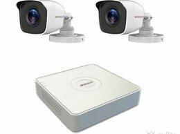 Камеры видеонаблюдения - Комплект видеонаблюдения hiwatch на 2 камеры 2мп, 0