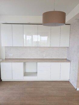 Мебель для кухни - Прямая кухня МДФ в пленке без ручек на заказ, 0