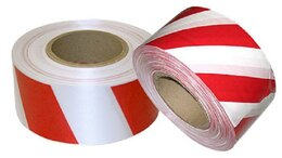 Аксессуары - Лента сигнальная бело-красная 50ммх200м, 0