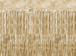 Шторы - Занавес Дождик, холодное золото, 1*2м, 0