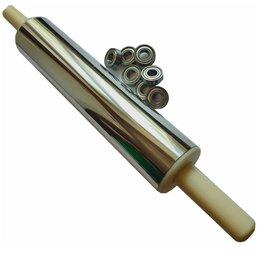 Скалки - Скалка для раскатки теста 30-7,5см с подшипниками, 0