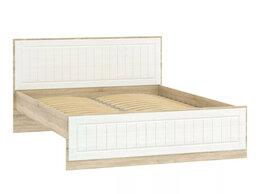Кровати - Кровать НМ 040.34 Оливия Дуб Сонома/белое дерево, 0