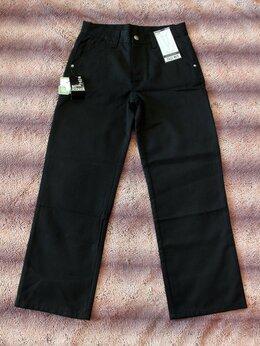 Брюки - Брюки школьные, джинсовые, р.134-140, 0