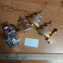 Новогодний декор и аксессуары - Елочные игрушки елочки и сова набор 5 штук , 0