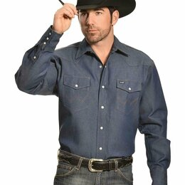 Рубашки - Рубашка джинсовая Wrangler, Old School, 0