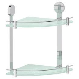 Полки, шкафчики, этажерки - Полка стеклянная угловая двойная Harmonie Artwelle HAR 040, 0