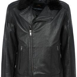 Куртки - Демисезонная стильная мужская  кожаная куртка, 0