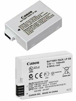 Аккумуляторы и зарядные устройства - Оригинальный Аккумулятор Canon LP-E8, 0