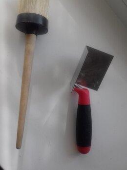 Инструменты для нанесения строительных смесей - Кисть малярная и Кельма угловая, 0