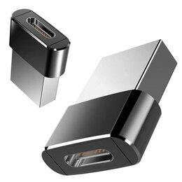 Зарядные устройства и адаптеры - Металлический USB OTG адаптер type-C, переход usb, 0