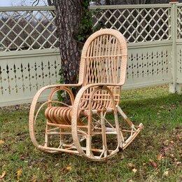 Кресла и стулья - Кресло качалка плетёная из лозы. Ручная работа. , 0