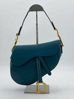 Сумки - Женская сумка Christian Dior Saddle бирюзовая…, 0