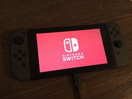 Игровые приставки -  Nintendo switch.Чёрная не прошиваемая, 0