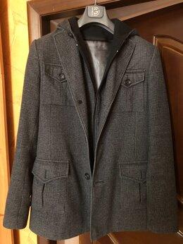 Пальто - Пальто мужское серая клетка, 0