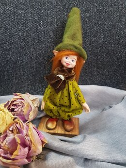 Другое - Эльфийка кукла ручной работы из полимерной…, 0