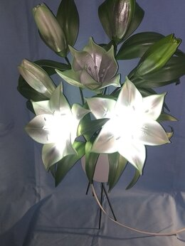 Ночники и декоративные светильники - Светильник ручной работы панно лилии, 0