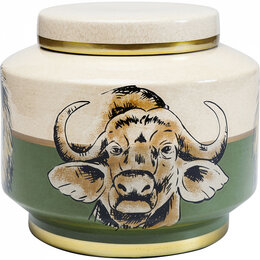 Бочки - Емкость керамическая бежево-зеленая 20 см Wild…, 0