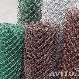 Заборчики, сетки и бордюрные ленты - Сетка-рабица оц.  D1.6 мм яч.50 высота 1,5м загн.концы(10м), 0