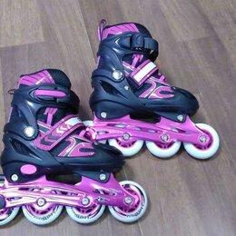 Роликовые коньки - Раздвижные роликовые коньки Vector Pink, 0