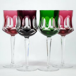 Бокалы и стаканы - Бокал вино цветной хрусталь Германия, 0