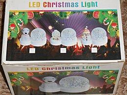 Ночники и декоративные светильники - Светодиодный диско-шар. Снеговичок, 0