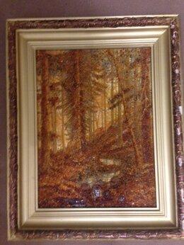 Картины, постеры, гобелены, панно - Картина Русский лес, из янтаря, 0