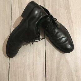 Туфли - Туфли чёрные ботинки мужские натуральные кожаные, 0