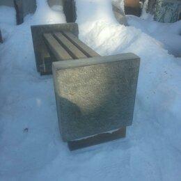 Банкетки и скамьи - Лавочка с бетонными боковинами дл. 1.2м, 0