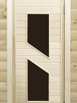Двери - Банная дверь липа остекленная ПО-8, 0