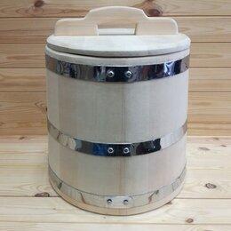 Бочки, кадки, жбаны - Кадка из кедра 50 л обручи из нержавеющей стали, 0