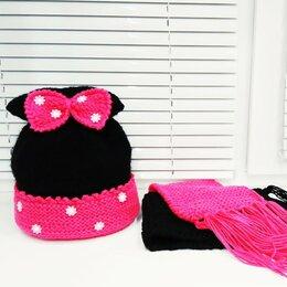 Головные уборы - шапка+шарф для девочки, 0
