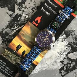 Наручные часы - Часы 5в1: браслет из паракорда, огниво, свисток,…, 0